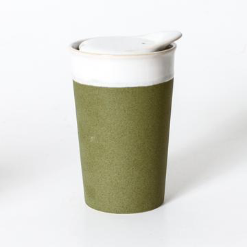 Its a keeper Ceramic cup Tall- Sprout green