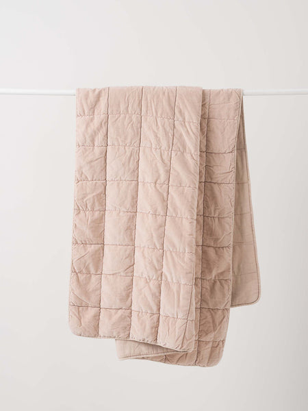 Washed velvet Quilted throw