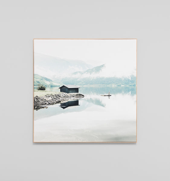 Norwegian lake canvas