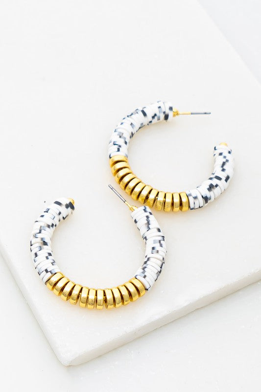 Gold & White Hoops