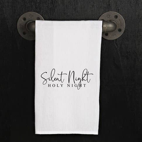 Silent Night Holy Night Dish Towel