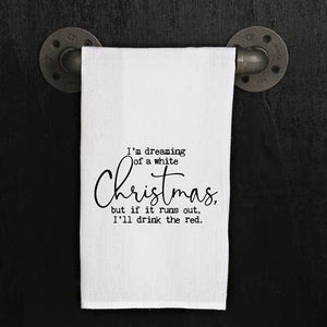 Dreaming Of A White Christmas Dish Towel