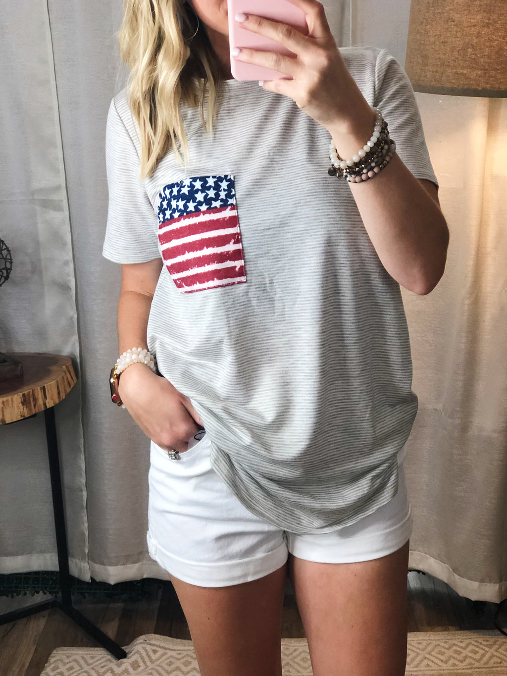 Stripe & Flag Top