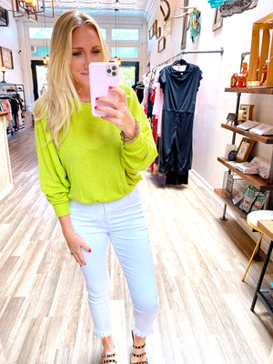 Lime & Shine Top