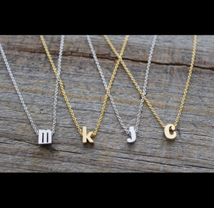 Mini Initial Necklaces