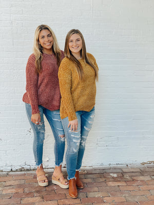 Cozy Chenille Knit Sweater