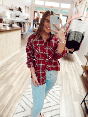 Fall Flannel Top