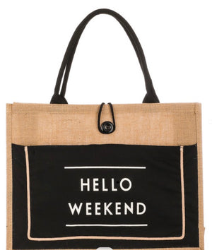 Hello Weekend Beach Tote
