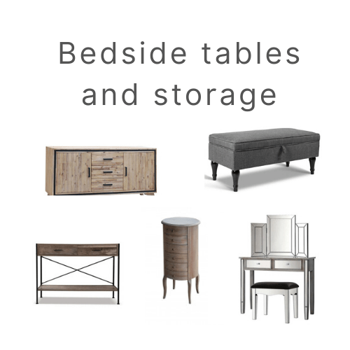 bedside tables and storage