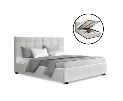 Gas Lift Queen Bed, gas lift queen bed frame, queen bed with gas lift storage, queen size gas lift bed