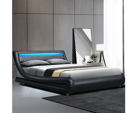 leather beds, leather bed frames