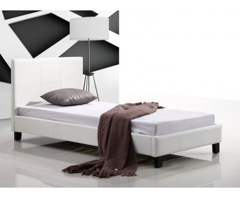 single leather bed, single leather bed frame