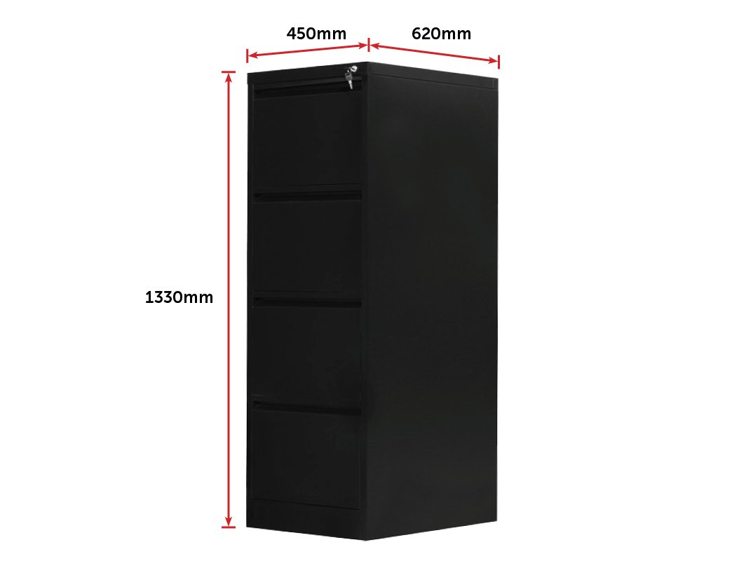 4-Drawer Shelf Office Gym Filing Storage Locker Cabinet - Evopia