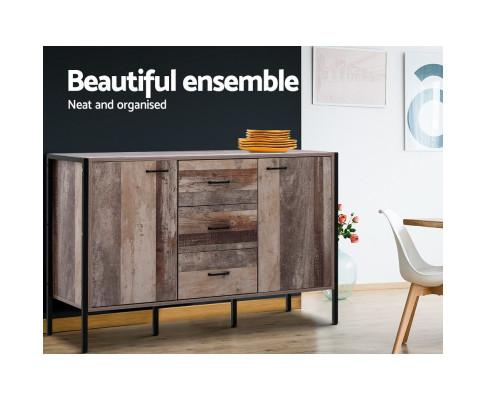 Artiss Industrial Rustic Buffet Sideboard Storage Cabinet in the room  $ 279 by Evopia.com.au