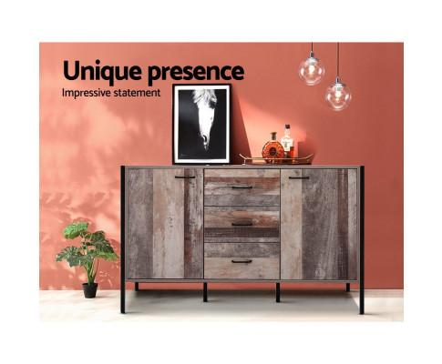 Artiss Industrial Rustic Buffet Sideboard Storage Cabinet  with lights $ 279 by Evopia.com.au