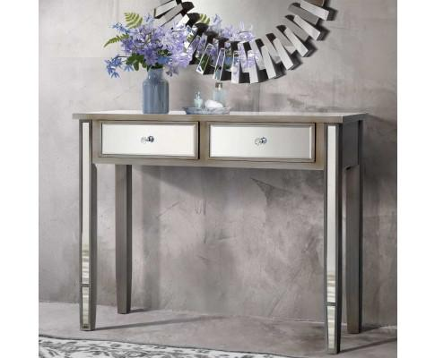 Artiss Mirrored Console Table Drawers Sideboard display with mirror