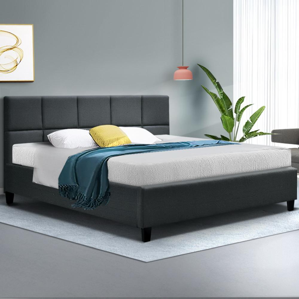 Artiss Tino Bed Frame in Charcoal Fabric - Evopia