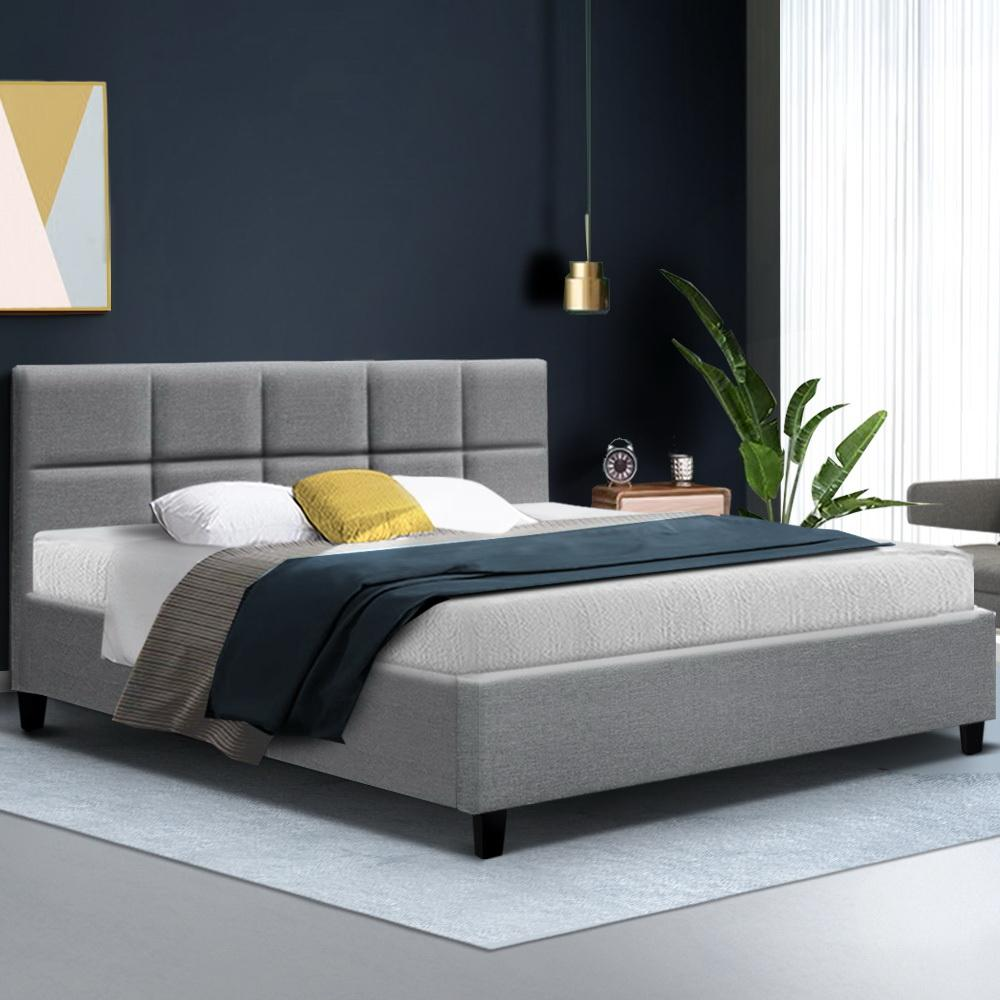 Artiss Tino Bed Frame in Grey Fabric - Evopia