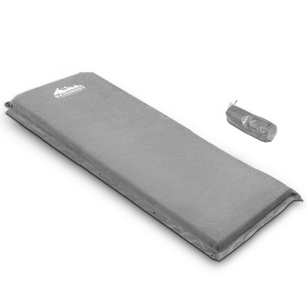 Weisshorn Single Size Self Inflating Matress - Grey - Evopia