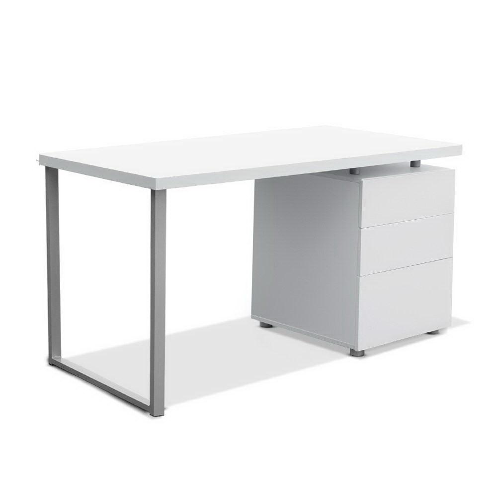 Artiss Metal Desk with 3 Drawers White - Evopia