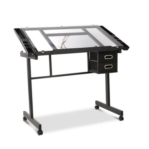 Artiss Adjustable Drawing Desk - Black and Grey - Evopia