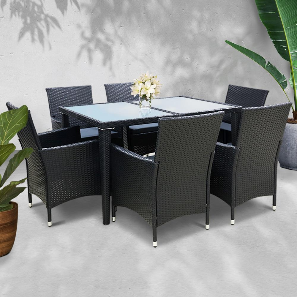 Gardeon Outdoor Furniture 7pcs Dining Set - Evopia