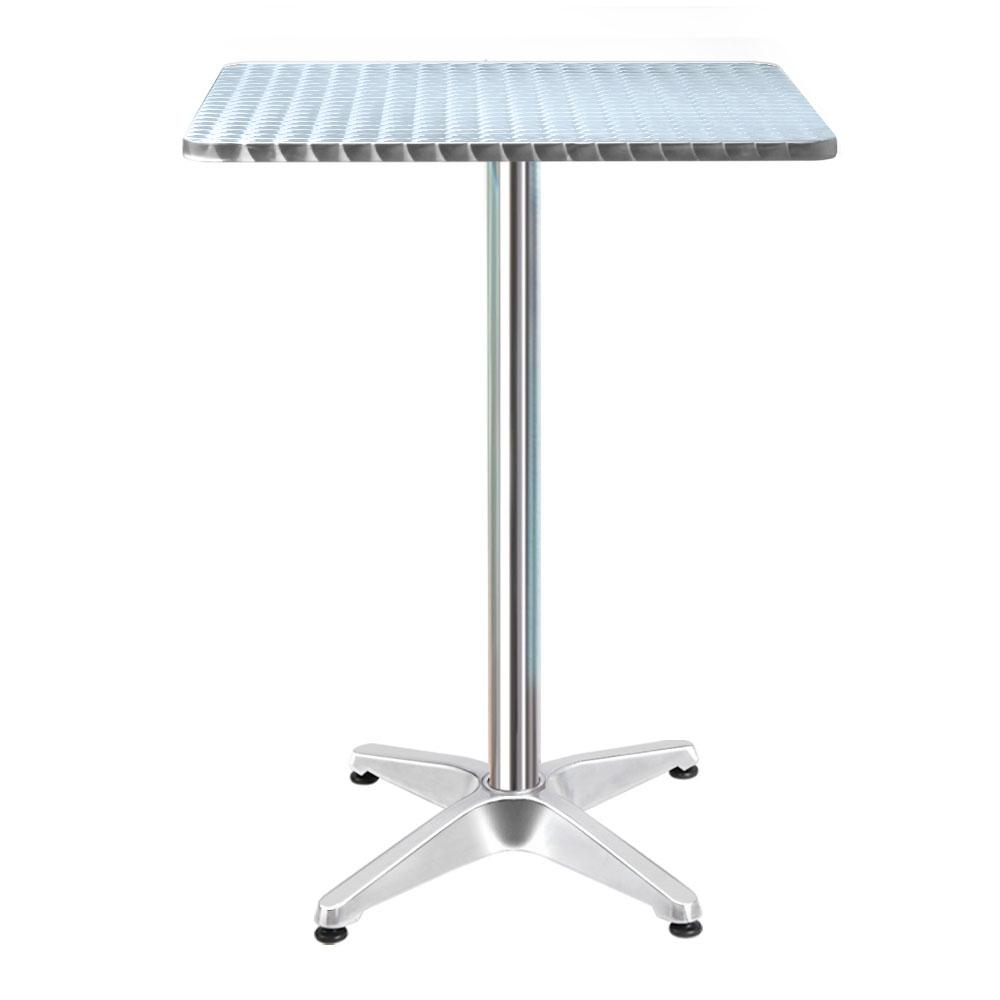 Bar Table Outdoor Furniture Adjustable Aluminium Pub Cafe Indoor Square Gardeon - Evopia