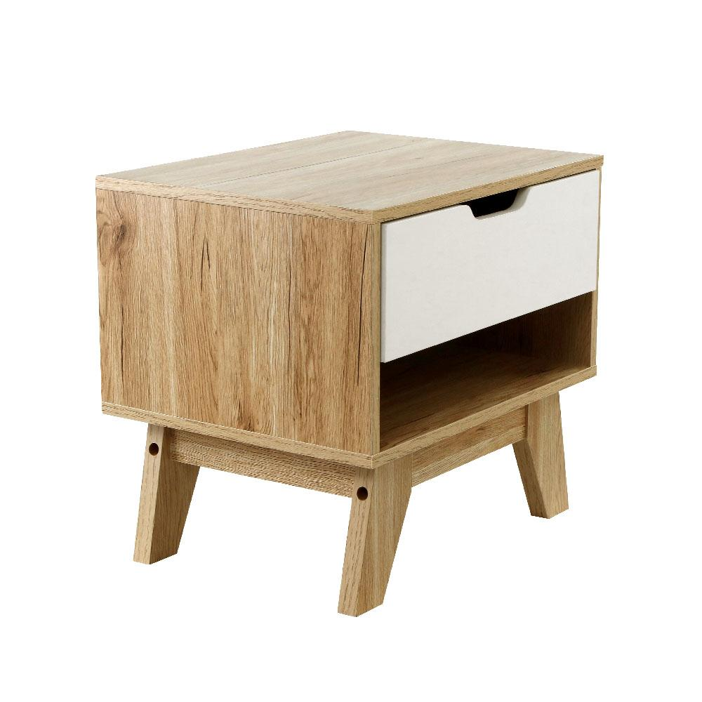 Artiss  Wooden Bedside Table Drawer Nightstand Cabinet - Evopia