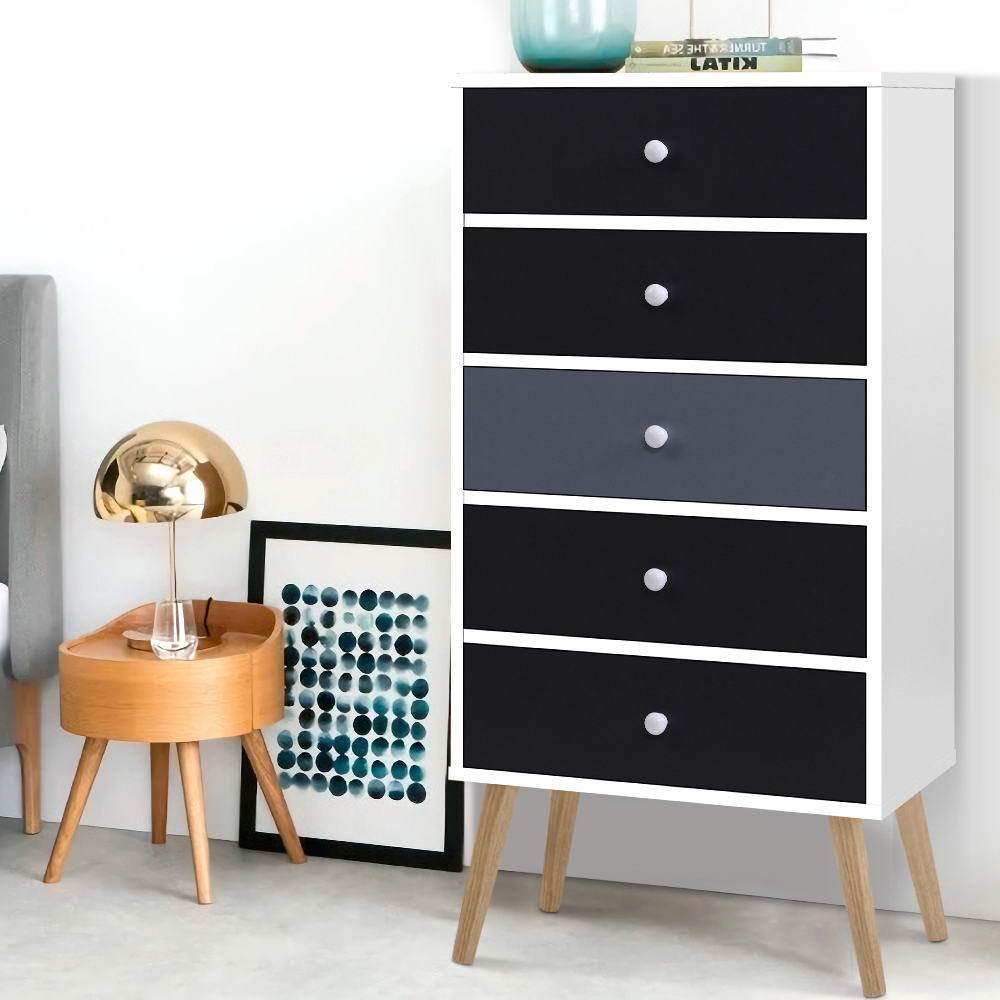 Artiss Chest of Drawers Dresser Table Tallboy Storage Cabinet Furniture Bedroom - Evopia