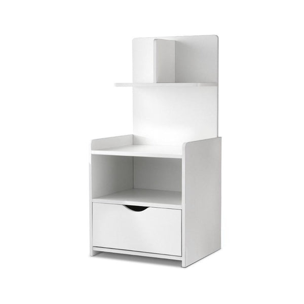 Artiss Bedside Table Cabinet Shelf Display Drawer Side Nightstand Unit Storage - Evopia