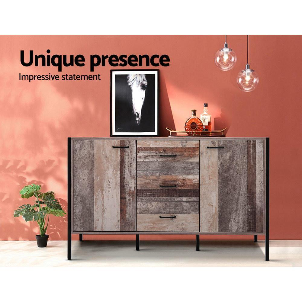 Artiss Buffet Sideboard Storage Cabinet Industrial Rustic Wooden - Evopia