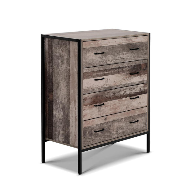 Artiss Chest of Drawers Tallboy Dresser Storage Cabinet Industrial Rustic - Evopia