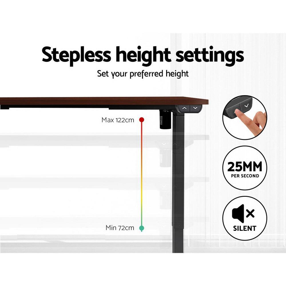 Artiss Sit Stand Desk Motorised Electric Table Riser Height Adjustable Standing Desk 120cm - Evopia