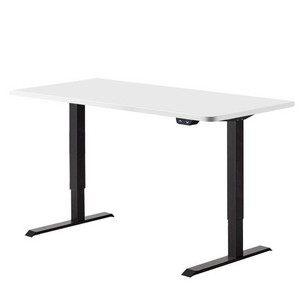 Artiss Standing Desk Motorised Electric Sit Stand Table Riser Computer Laptop Desks Black White - Evopia