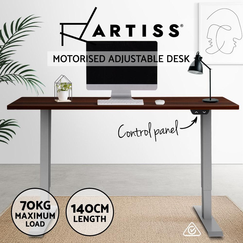 Artiss Standing Desk Motorised Electric Height Adjustable Sit Stand Table Office 140cm - Evopia