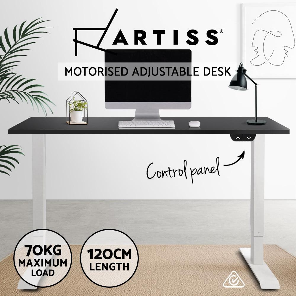 Artiss Standing Desk Motorised Electric Adjustable Sit Stand Table Riser Computer Laptop Stand 120cm - Evopia