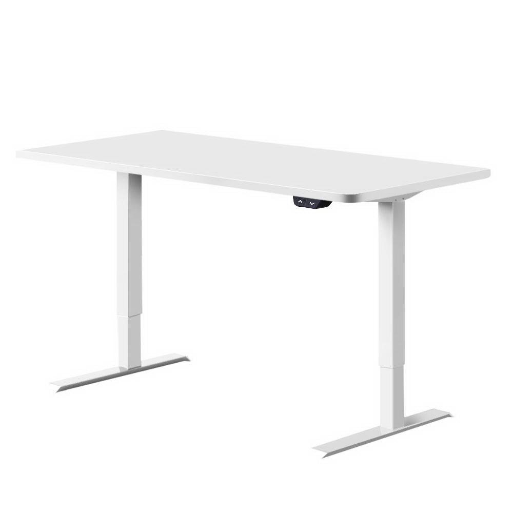 Artiss Standing Desk Sit Stand Table Riser Motorised Height Adjustable Computer Laptop Desks Stand 120cm White