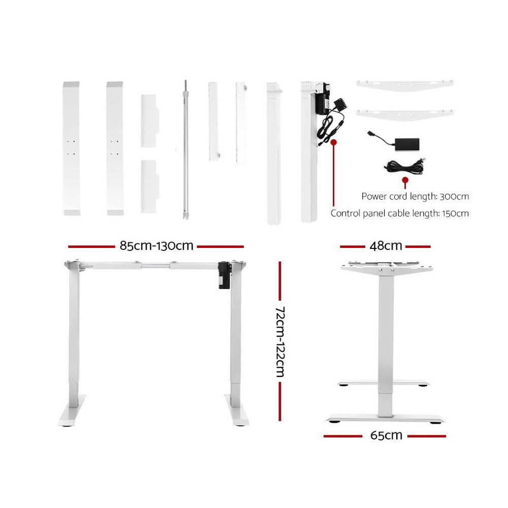 Artiss Standing Desk Motorised Sit Stand Table Riser Height Adjustable Electric Computer Table Laptop Desks
