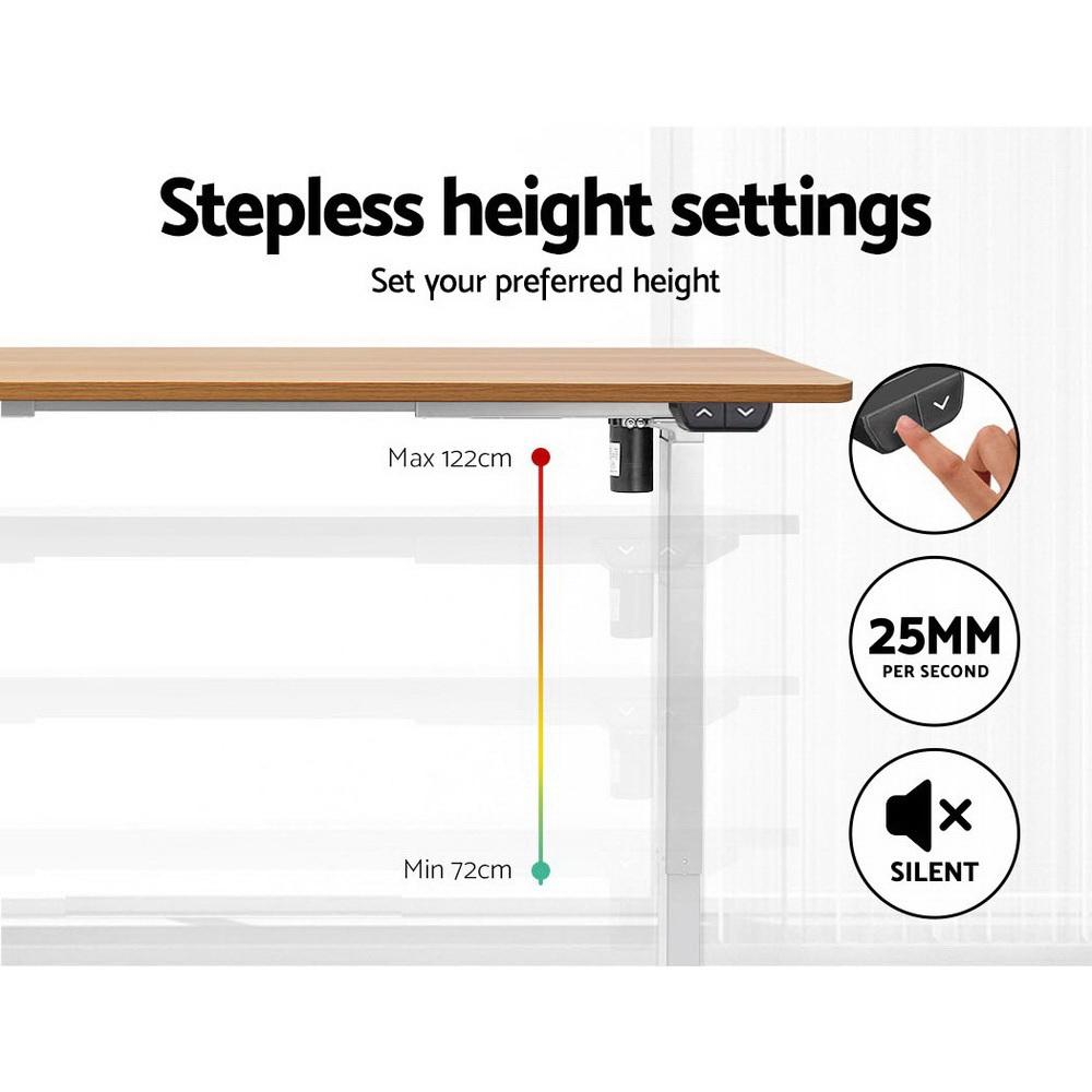 Artiss Standing Desk Motorised Sit Stand Table Riser Height Adjustable Electric Computer Table Laptop Desks - Evopia