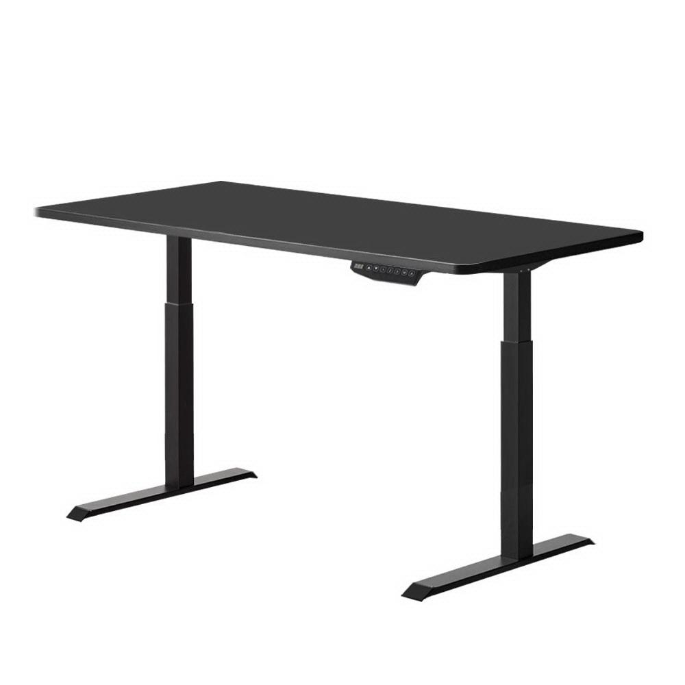 Artiss Standing Desk Sit Stand Riser Motorised Electric Computer Laptop Table Height Adjustable Dual Motor Black - Evopia