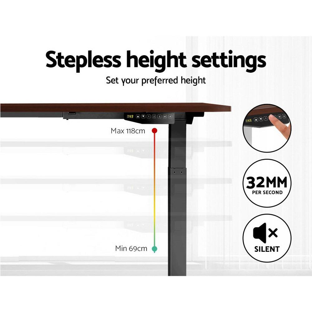 Artiss Standing Desk Sit Stand Motorised Electric Frame Computer Laptop Table 120cm Dual Motor - Evopia