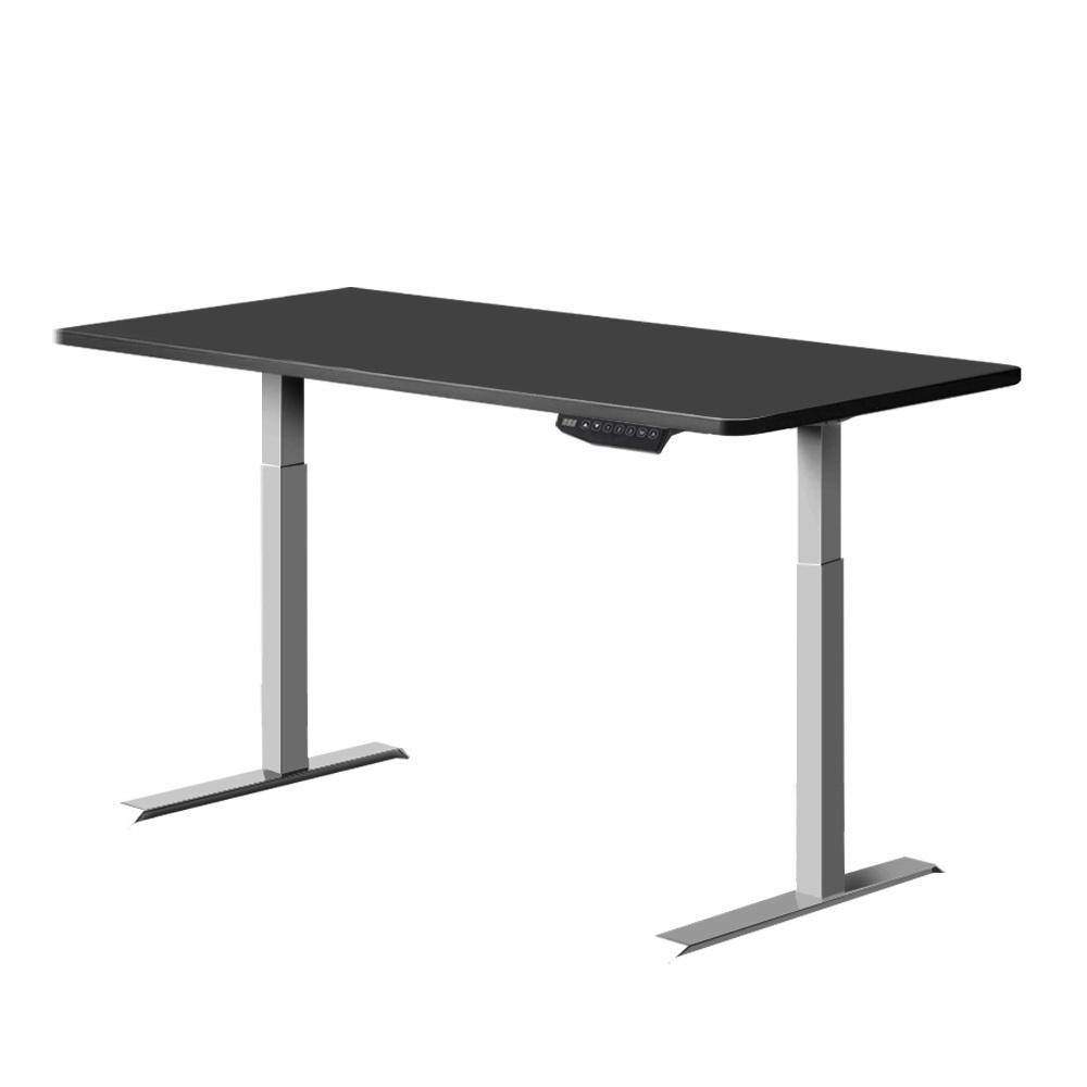 Artiss Standing Desk Motorised Sit Stand Table Riser Adjustable Computer Laptop Desks Dual Motors 140cm - Evopia