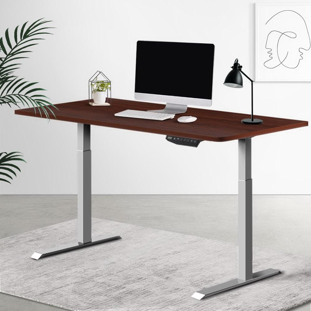 Artiss Standing Desk Sit Stand Laptop Computer Table Motorised Electric Dual Motors 140cm - Evopia