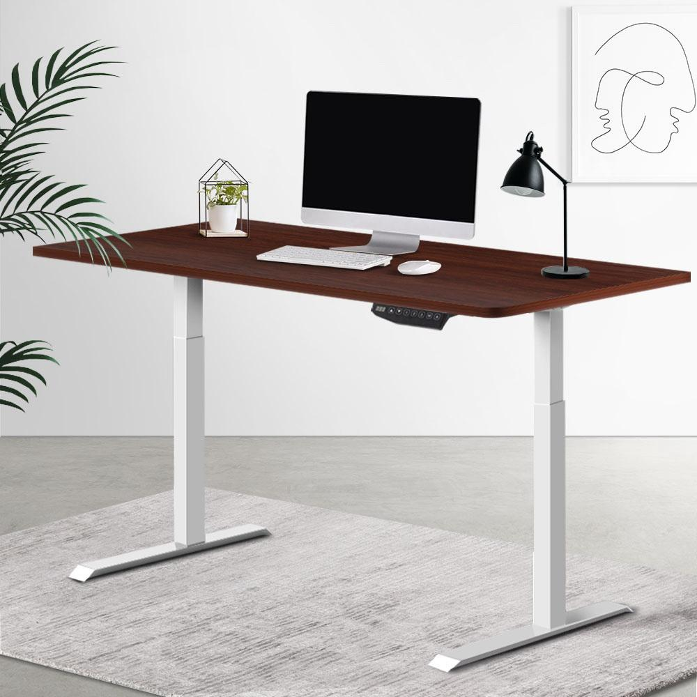 Artiss Sit Stand Desk Standing Desks Motorised Electric Computer Laptop Table Office Dual Motor 120cm - Evopia