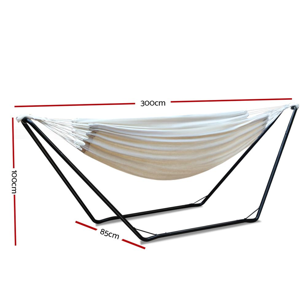 Gardeon Hammock Bed with Steel Frame Stand - Evopia