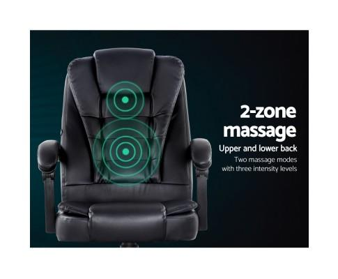 Artiss Electric Massage Office Gaming Chair Black - Evopia