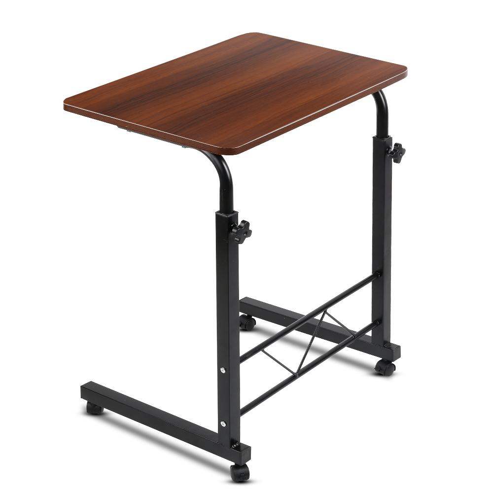 Mobile Twin Laptop Desk - Dark Wood - Evopia