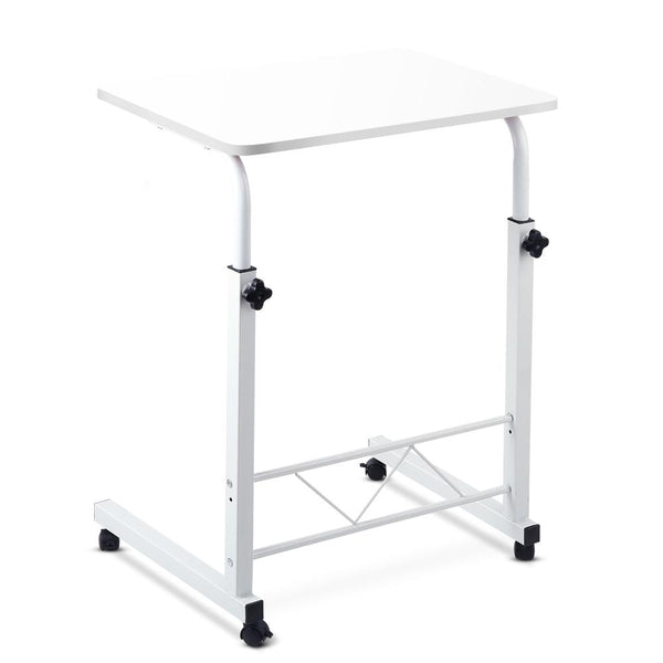 Portable Adjustable Wooden Latpop Stand - White - Evopia