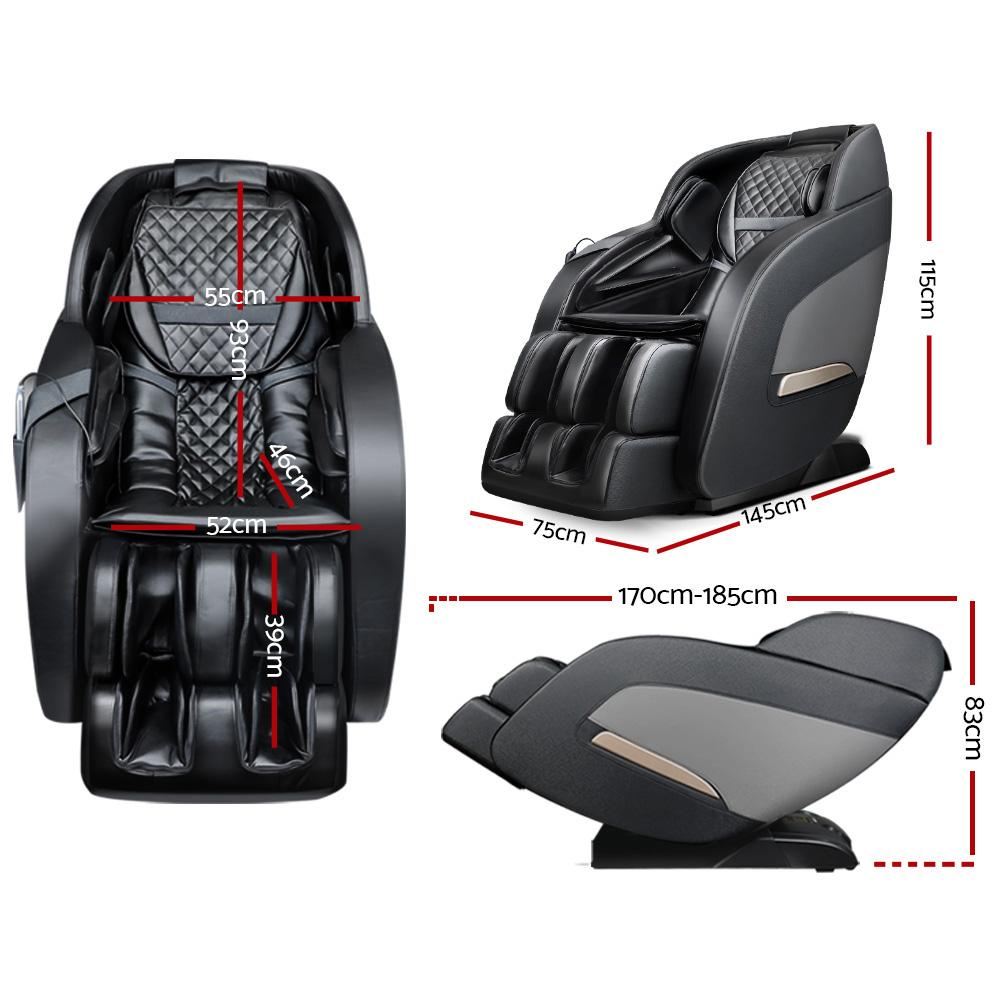 Electric Massage Chair Zero Gravity Recliner Shiatsu Back Heating Massager - Evopia
