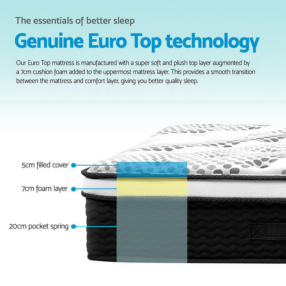 Giselle Euro Comfort Plush Top Mattress Double - Evopia